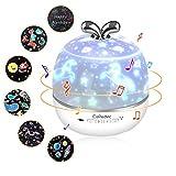 CoPedvic Sternenhimmel Projektor Lampe, 3 in 1 Bluetooth Lautsprecher LED Musik Nachtlicht Kind mit 6 Projektionsfilmen 360° Drehbar Starry Music Projector mit Fernbedienung, Timer für Baby, Kinder