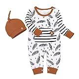 Babykleidung Baby Jungen Strampler Outfit Body Strampler Hose Mütze Neugeborene Kleinkinder Weiche Infant Sommer Kleidung Outfit